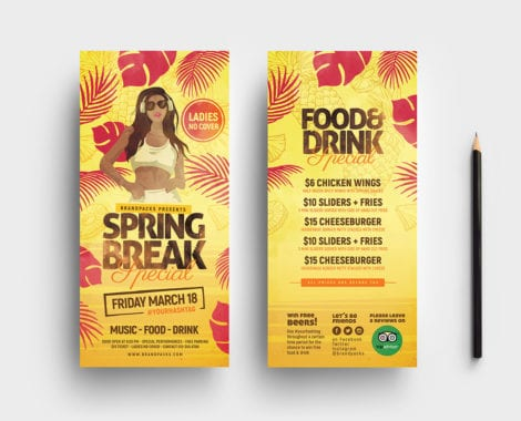 Spring Break DL Card Template