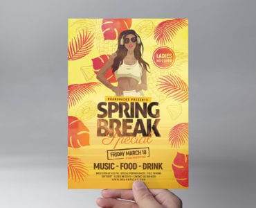 Spring Break Flyer Template Front