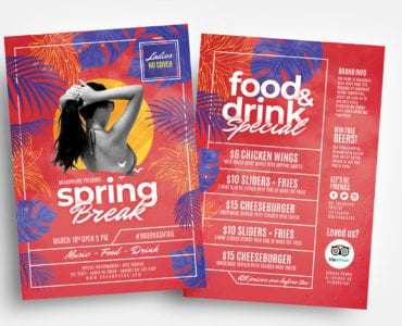 Spring Break Flyer Templates