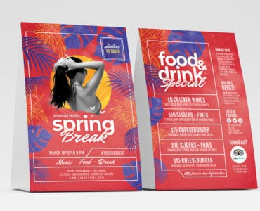 Spring Break Table Tent Templates