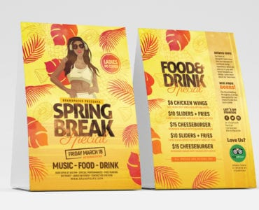 Spring Break Table Tent Template