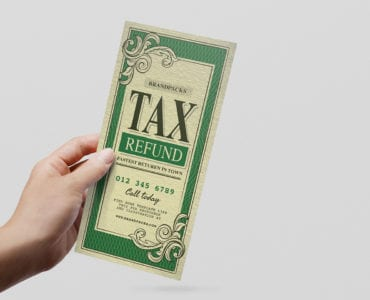 Tax Refund DL Flyer Template