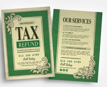 Tax Refund Flyer Templates