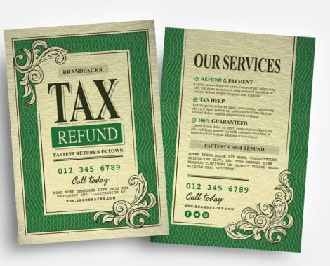 Tax Refund Flyer Templates
