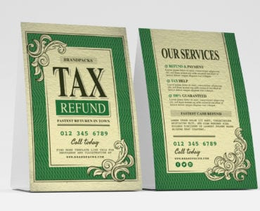Tax Refund Table Tent Templates