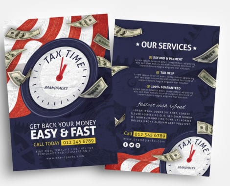 Tax Time Flyer Templates