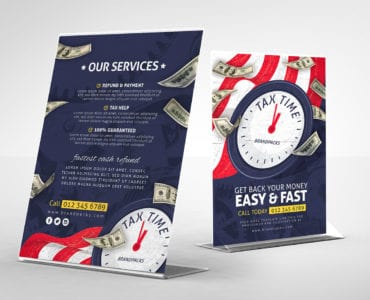 Tax Time Table Tent Template