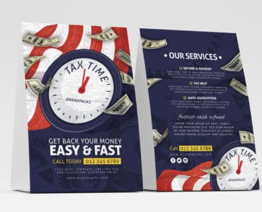 Tax Time Table Tent Templates
