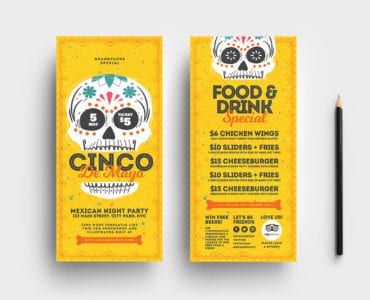 Cinco de Mayo DL Card Templates