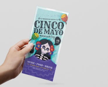 Cinco de Mayo DL Flyer Template PSD/Vector