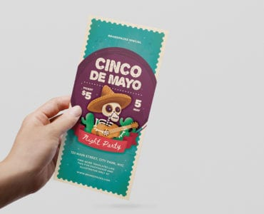 Cinco de Mayo DL Rack Card Template