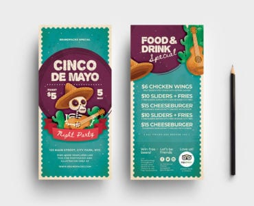 Cinco de Mayo DL Rack Card Templates