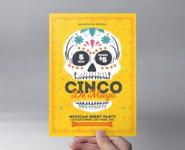 Cinco de Mayo Flyer/Poster Template Front