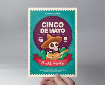 Cinco de Mayo Flyer/Poster Template (front)