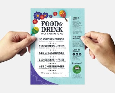 Cinco De Mayo Flyer Template Vector/PSD