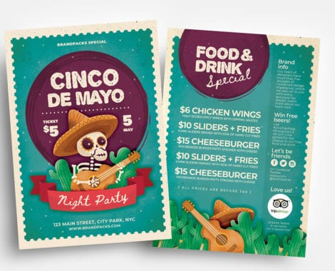 Cinco de Mayo Flyer Templates