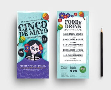 Cinco de Mayo Rack Card Template PSD/Vector