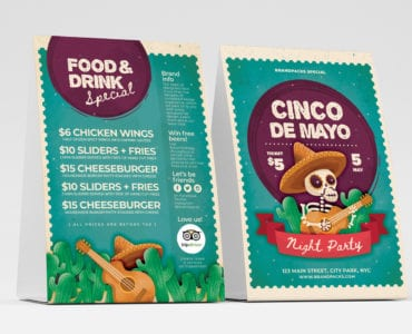 Cinco de Mayo Table Tent Templates