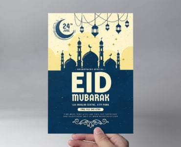 Eid Flyer Template Front