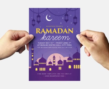 Ramadan Kareem Flyer Template Back