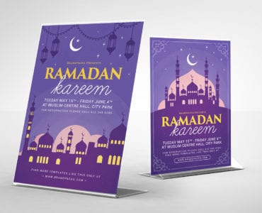 Ramadan Kareem Table Tent Template