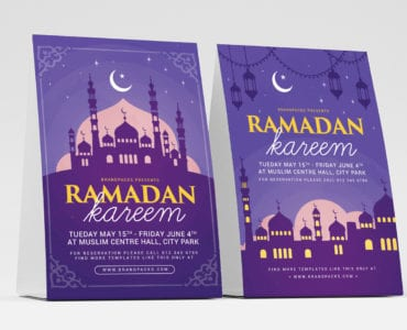 Ramadan Kareem Table Tent Templates
