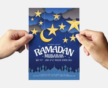 Ramadan Mubarak Flyer Template Back
