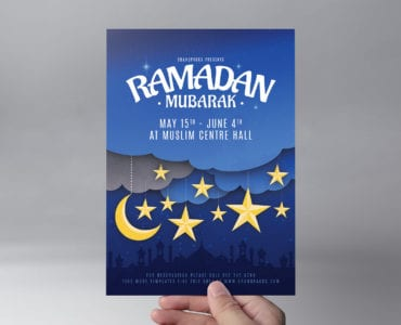 Ramadan Mubarak Flyer Template Front