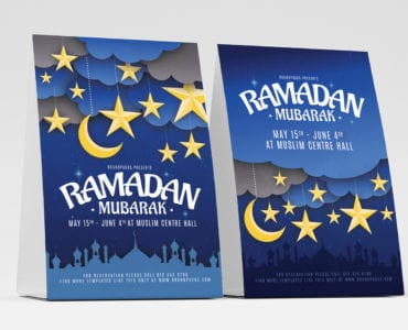 Ramadan Mubarak Table Tent Templates