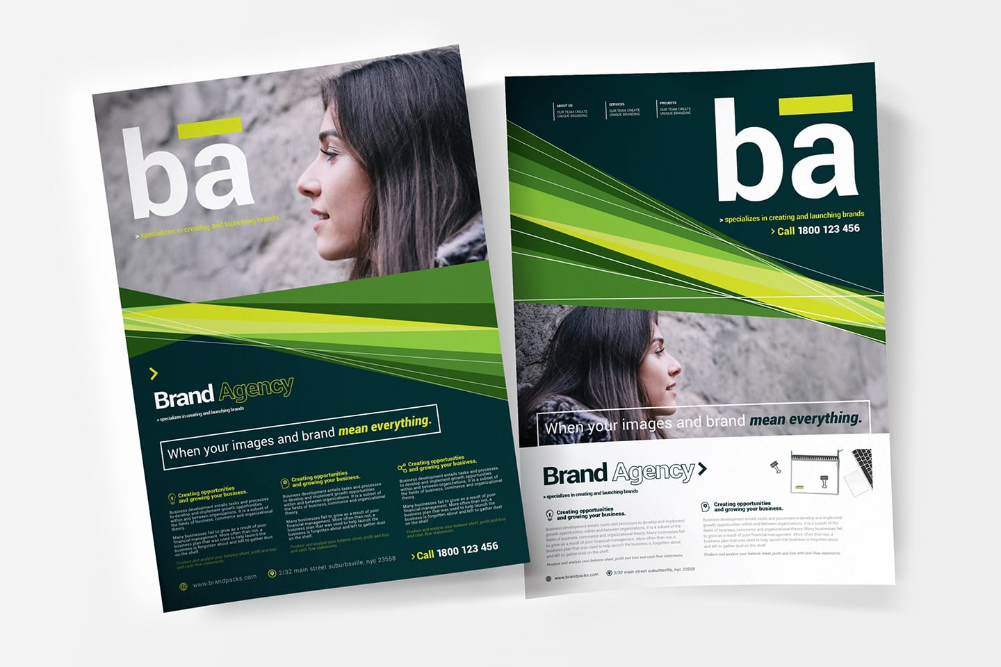 A4 Brand Agency Flyer/Poster Templates