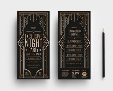 Art Deco DL Card Templates