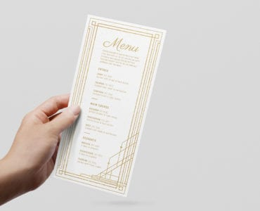 Art Deco DL Menu Template