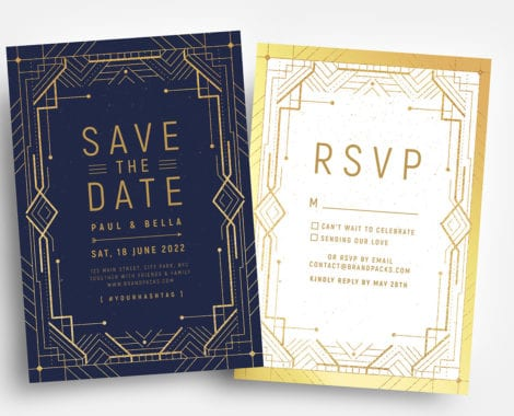 Art Deco Invitation Templates