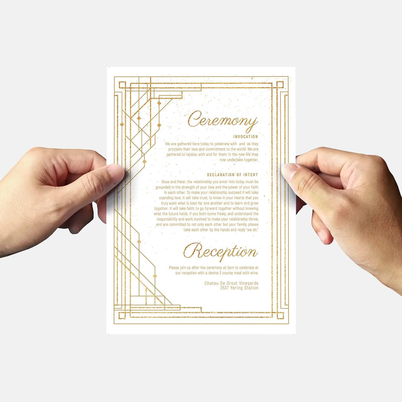 Art Deco Wedding Invitation: Art Deco Wedding Invitation Templates