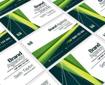 Brand Agency Business Card Template