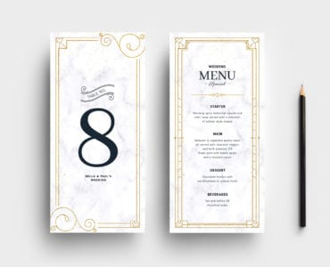DL Wedding Menu Template