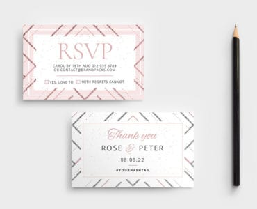 Modern Wedding RSVP Card Template