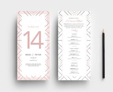Modern Wedding DL Rack Card Templates