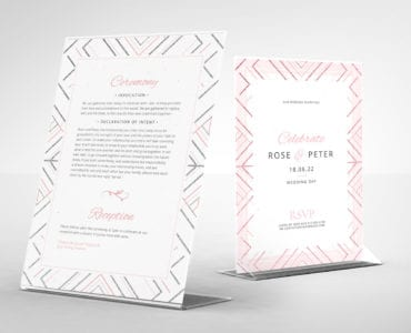 Modern Wedding Flyer / Table Tent Template