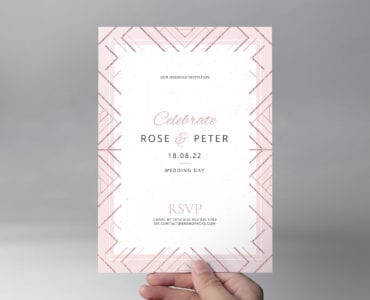 Modern Wedding Invitation Flyer Template