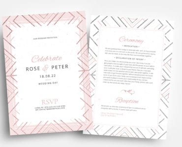 Modern Wedding Invitation Flyer Templates