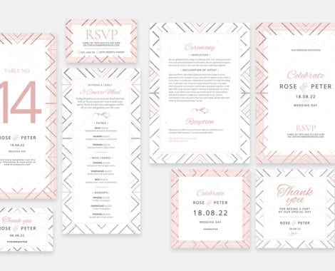 Modern Wedding Invitation Templates