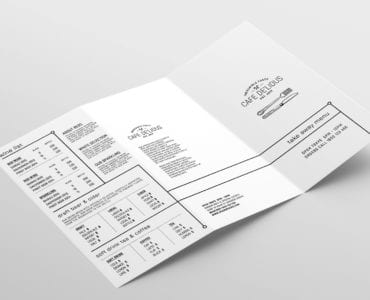 Tri Fold Menu Template Outside
