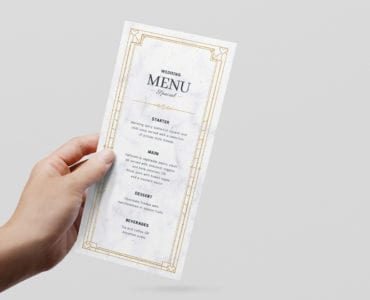 Wedding Rack Card Template