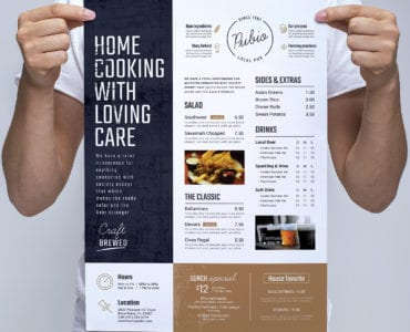 A3 Bar Menu Poster Template