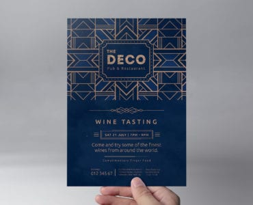 Art Deco Flyer Template (front)