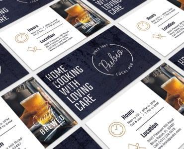 Bar Business Card Template