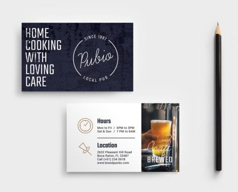 Bar Business Card Template