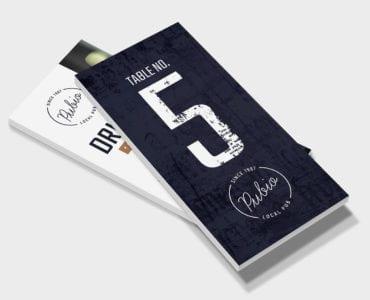 Bar DL Rack Card Template