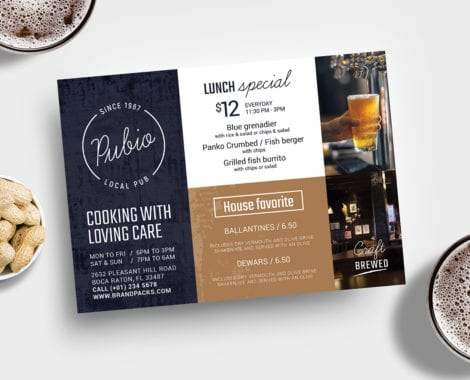 Bar Menu Flyer Template